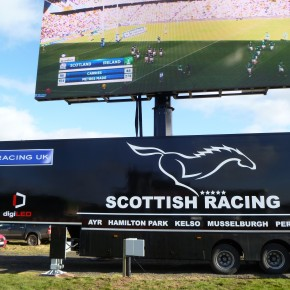 The latest digiLED screen goes to the Races