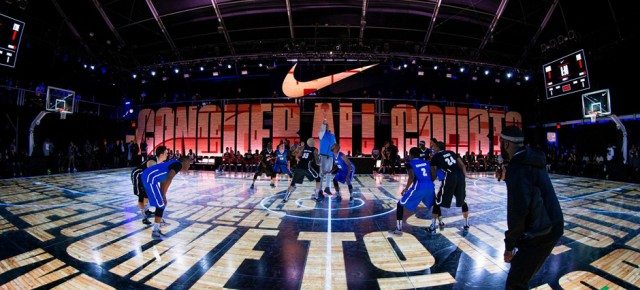 Entire LED floor built in NYC for Nike latest basketball project