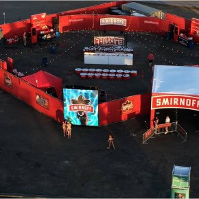 Toura LED Screen is first at the Smirnoff party